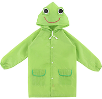 Плащ - дождевик детский Лягушка Зеленый 110-120 см (06007)