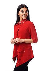 Яркая женственная стильная блуза с жемчугом., фото 2