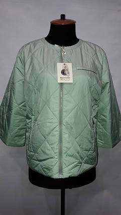 """button""-демисезонная куртка 58-529 мята, фото 2"