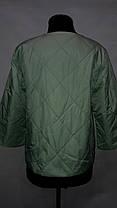 """button""-демисезонная куртка 58-529 мята, фото 3"