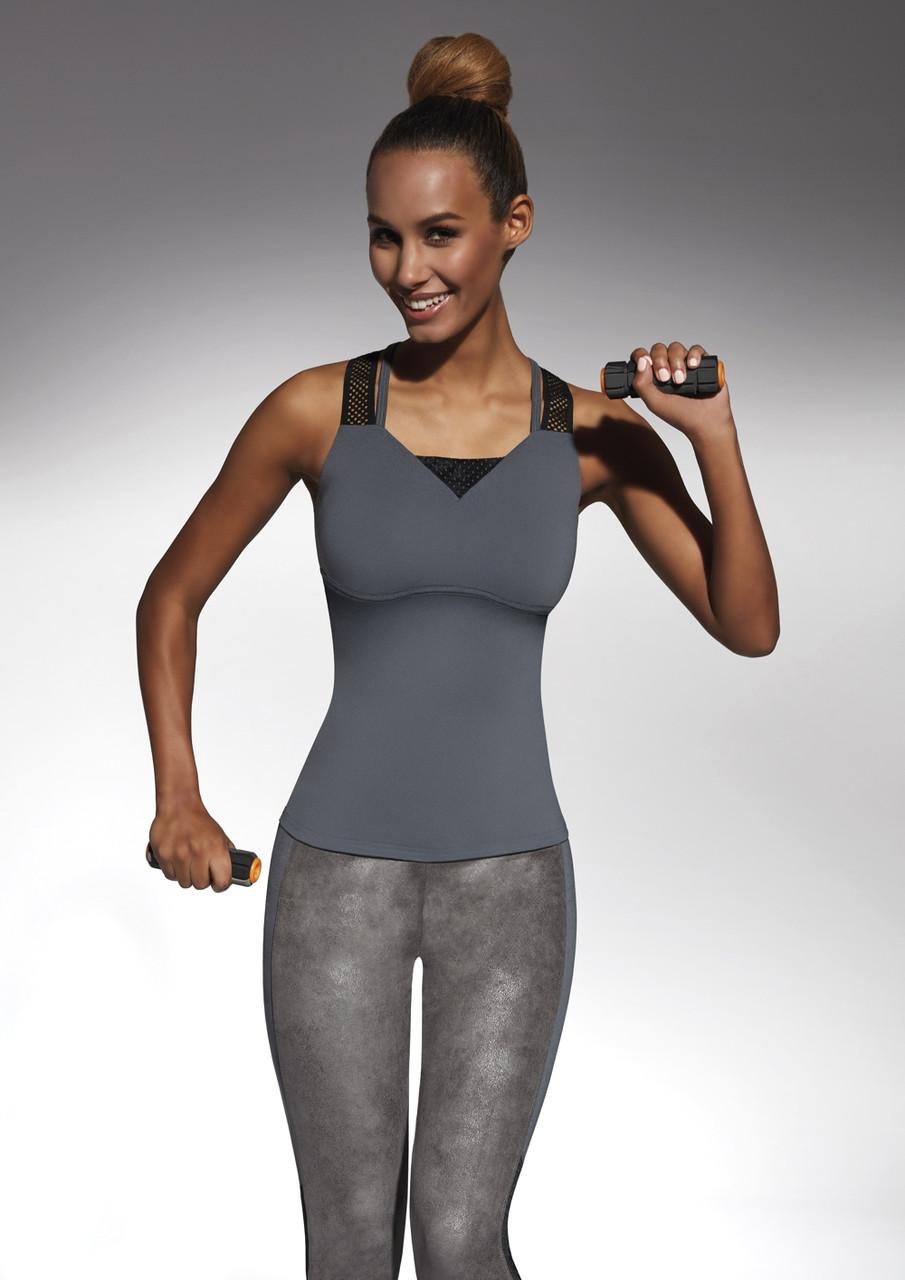 Спортивный женский топ BasBlack Flint-top 50 (original), майка для бега, фитнеса, спортзала