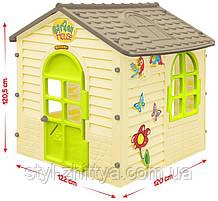 Ігровий будиночок садовий від 12 місяців, білий / дах сірий, пластик, Mochtoys