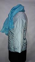 """""""button""""-демисезонная куртка 58-529 голубой, фото 3"""