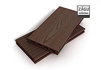 Террасная доска ZAGU Classic Коричневая патина, фото 1