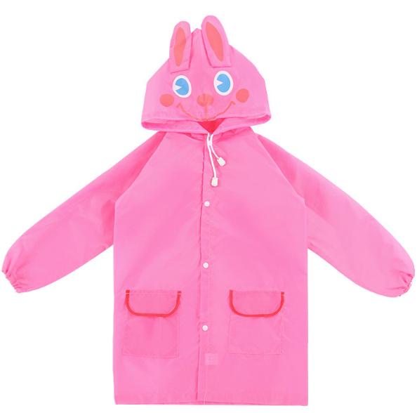 Плащ - дождевик детский Зайка Розовый 110-120 см (06027)