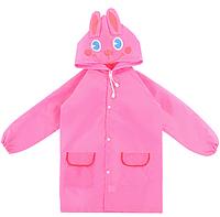 Плащ - дождевик детский Зайка Розовый 110-1120 см (06027)