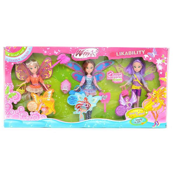 Набір ігровий Winx 3 ляльки в коробці (WX796-2)