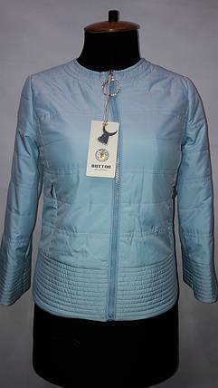 """""""button""""-демисезонная куртка 58-378 голубой , фото 2"""