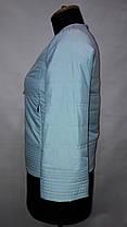 """""""button""""-демисезонная куртка 58-378 голубой , фото 3"""