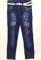 """Детские джинсы для девочки """"Бабочки"""""""