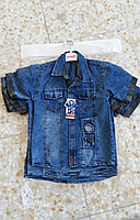 Джинсовые рубашки для мальчиков 5-8 лет