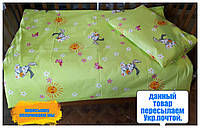 Одеяло детское+подушка+постельное бельё.