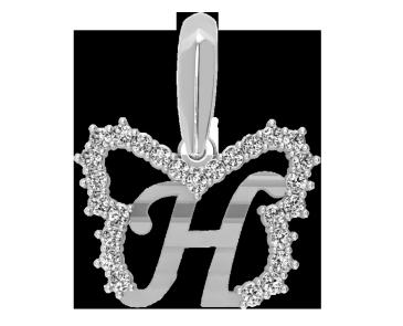 Подвеска - кулон серебряная Буква Н 60147_Н