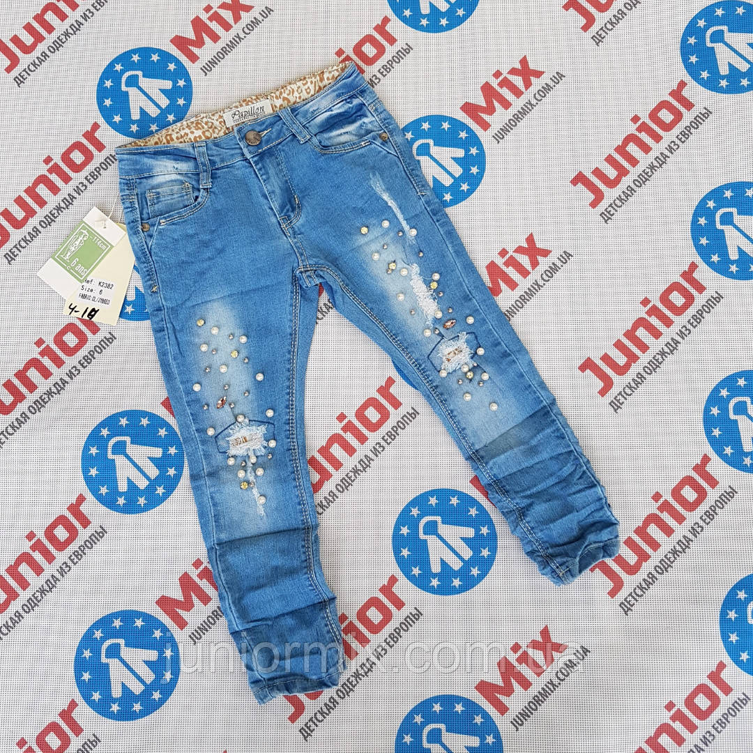 Модные рваные джинсы для девочек подростков оптом  Papilon