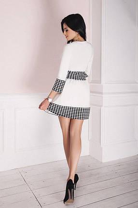 """Приталенное мини-платье дайвинг """"Abigail"""" с расклешенной юбкой (2 цвета), фото 2"""