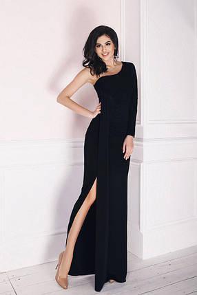 """Длинное облегающее платье на одно плечо """"Sevilla"""" с драпировкой (3 цвета), фото 2"""