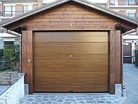 Гаражные секционные ворота с пружинами растяжения RSD01 2500\2100мм , фото 1