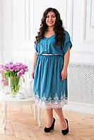 Шикарное летнее платье для полных женщин Данели