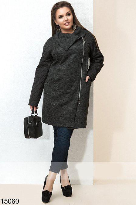 Женское демисезонное пальто на молнии