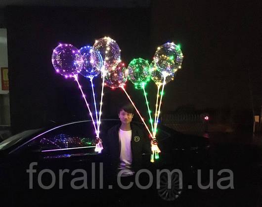 Светящийся шар. Невероятно Красивые и эффектные воздушные шарики Bobo с подсветкой 45см.
