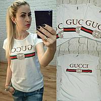 Турция! Стильная женская футболка GUCCI белая S M L