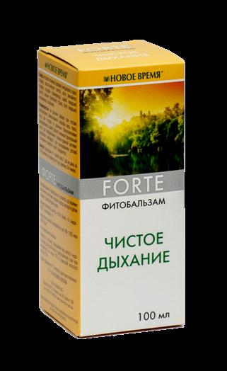 Для бронхов и частых простудах у детей и взрослых, при астме Фитобальзам Чистое дыхание (ФОРТЕ),100 мл-трахеит