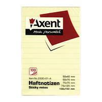 Блок бумаги Axent 2330-A с липким слоем, 100x150 мм, 100 листов,клетка