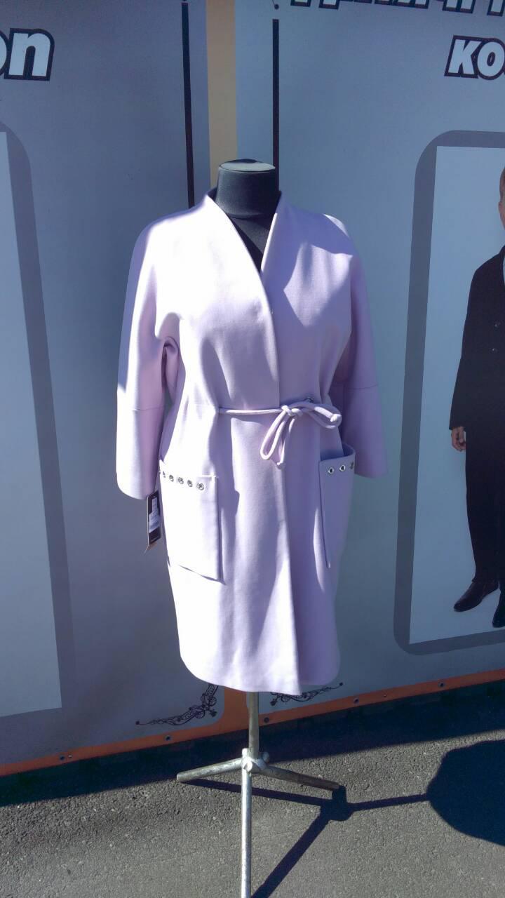 Пальто женское демисезонное  Almatti модель Vk-99-17 светлая сирень