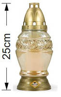Лампада в стекле золотистая