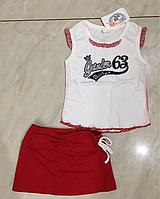 Комплект летний детский с юбкой Garden Baby размер 98
