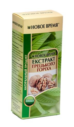 Для кишечника и желчного Экстракт грецкого ореха, 200 мл-камни в почках и желчном пузыре при дефиците йода