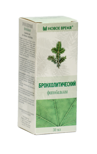 """Бальзам """"Бронхолитический"""", 30 мл- для наружного применения, облегчает кашель"""