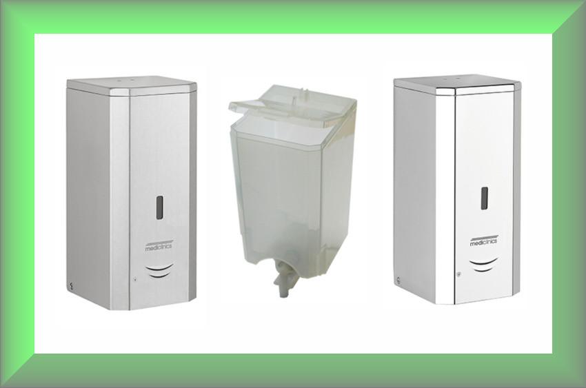 Дозатор жидкого мыла сенсорный 1л DJ0037АС Mediclinics (нержавейка глянец)