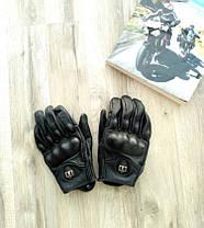Кожаные мото перчатки Icon Pursuit, фото 2