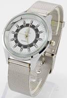 Женские кварцевые наручные часы с металлическим серебристым ремешком  (Копия)