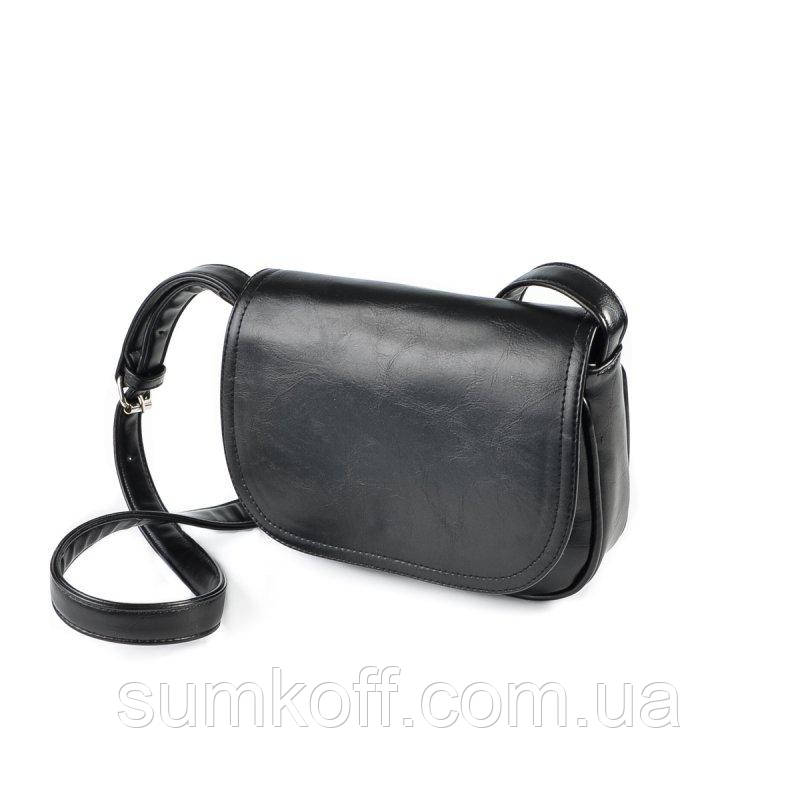 f76cefb52bff Маленькая сумка М55-27 через плечо черная кросс-боди на длинном ремешке -  Интернет