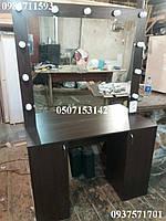 Двухтумбовый гримерный стол. Модель А150 венге магия, фото 1