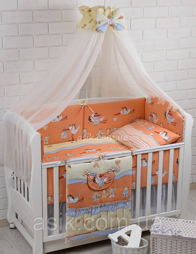 Комплект 8 эл детского постельного белья