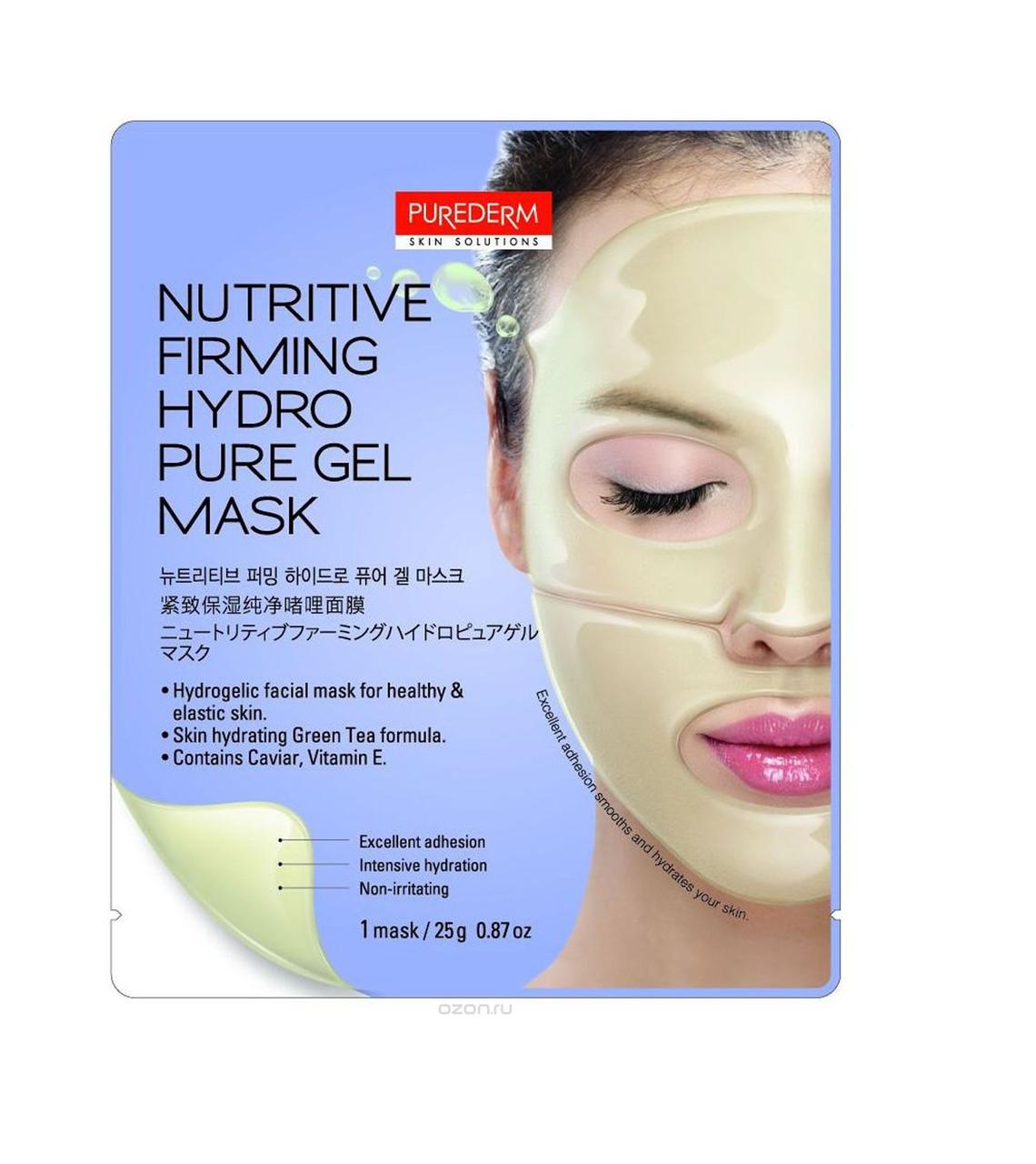 Гидрогелевая маска для укрепления и питания кожи Purederm Firming Hydro Pure Gel Mask