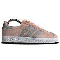 Женские кроссовки Adidas Gazelle pink grey