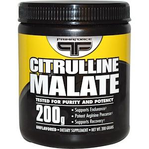 Primaforce, Цитруліну малат, без ароматизаторів, 200 г