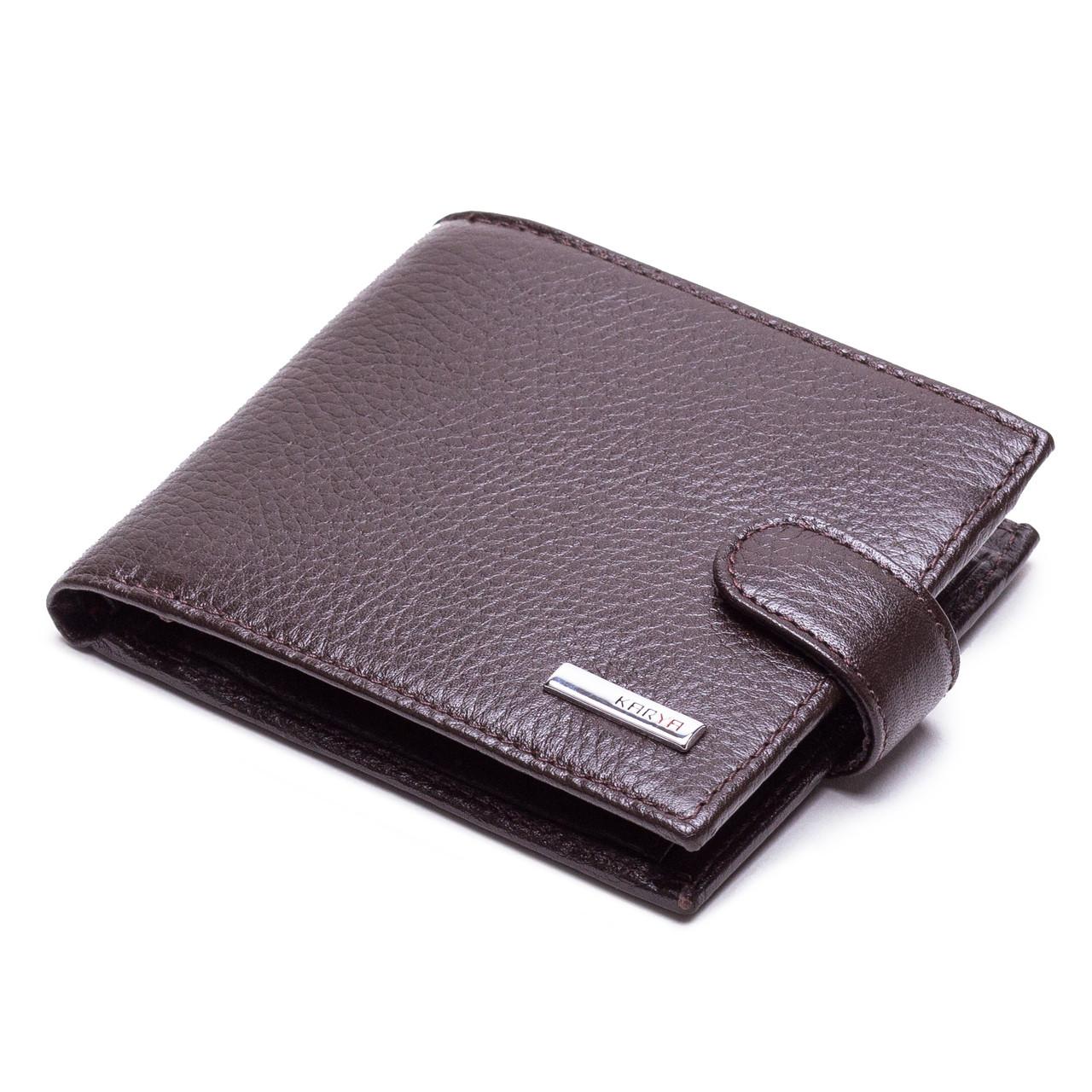 Мужской кошелек кожаный коричневый Karya 0431-39