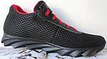 Jordan! летние черные с красным мужские или для подростка кроссовки в стиле Джордан сетка кожа, фото 4