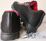 Jordan! летние черные с красным мужские или для подростка кроссовки в стиле Джордан сетка кожа, фото 5