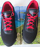 Jordan! летние черные с красным мужские или для подростка кроссовки в стиле Джордан сетка кожа, фото 6