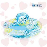 Intex 59460 (122х25 см) Надувной бассейн Звездочки с мячиком и кругом