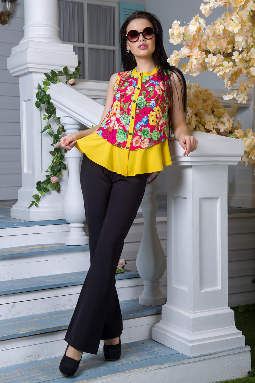 028f5fdc22f Яркая блуза Дакиня принт малина (M