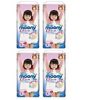 Moony. Трусики для девочек (12-17 кг) 4х38 шт. (3304)