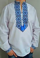Мужская вышиванка с большой вышивкой