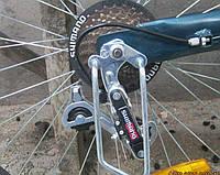 Велосипедная защита перекидки / компоньелы (серебро) длинная